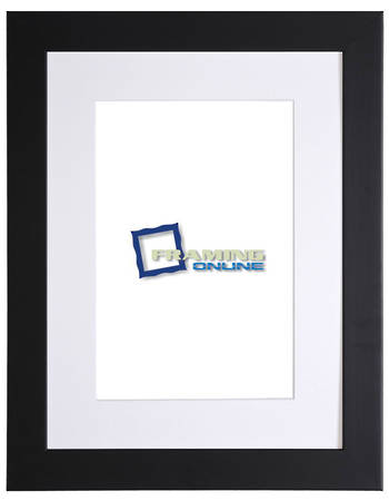 "12""x16"" Black Frame White Mat 405"