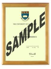 Auckland University Degree 28hon CONSERVATION