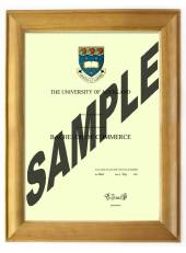 Auckland University Degree 63rs CONSERVATION