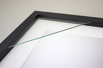 8x12 2-Window Black Box Frame White Mat 52sb