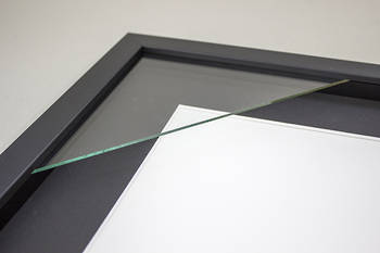 4x6 2-Window Black Box Frame Black Mat 52sb