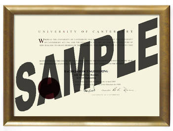 University of Canterbury Degree Gold Frame 802