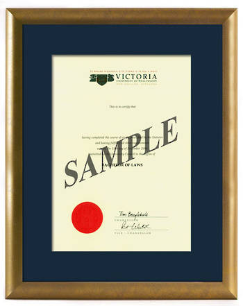 Victoria Degree Gold Frame 423 CONSERVATION