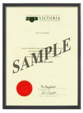 Victoria Degree 1031p CONSERVATION