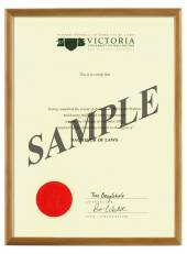 Victoria Degree 103hon CONSERVATION