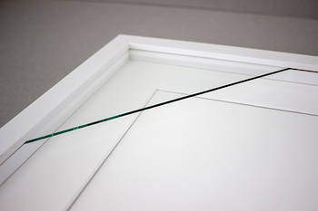 100x100mm 3-Window White Box Frame White Mat 52sw