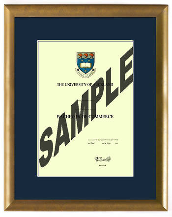 Auckland University Degree Gold Frame 423 CONSERVATION