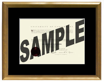 University of Canterbury Degree Gold Frame 210