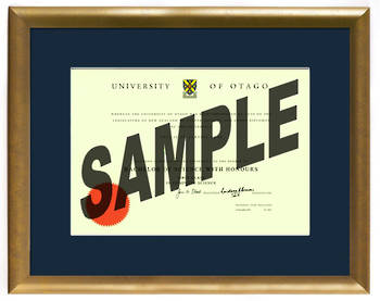 University of Otago Degree Gold Frame 837