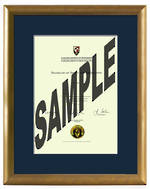AUT Degree Gold Frame 837