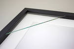 300x300mm 2-Window Black Box Frame White Mat 52sb