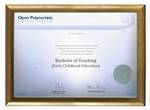 Open Polytechnic Degree Gold Frame 802