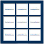 100x100mm 9-Window Dark Blue Mat