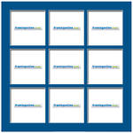 100x100mm 9-Window Mid-Blue Mat