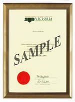 Victoria Degree Gold Frame 802