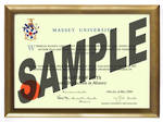 Massey University Degree Gold Frame 802