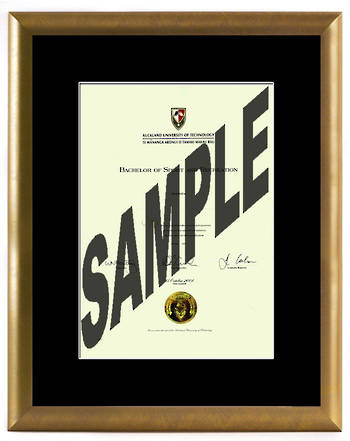 AUT Degree Gold Frame 210