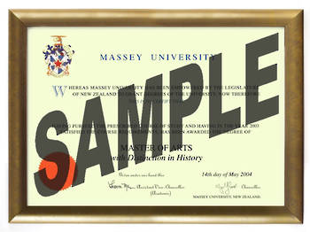 Massey Uni Degree Gold Frame 802 CONSERVATION